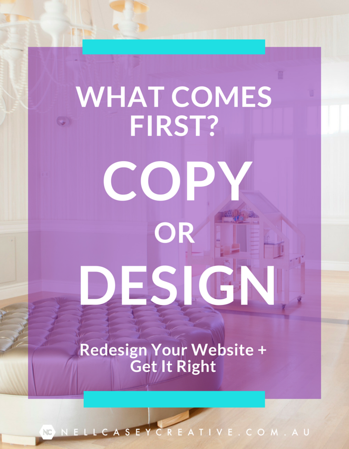 copy or design first|burnt butter homepage example