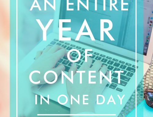 How To Plan Your Entire Year's Worth of Content in One Day