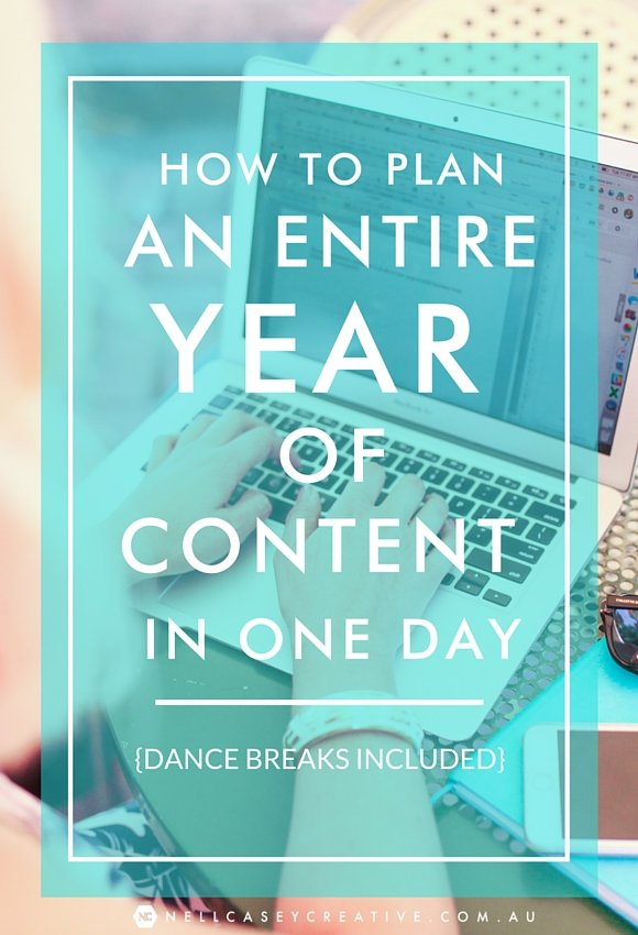 year of content in one day|